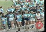 Image of torch marathon race Houston Texas USA, 1977, second 10 stock footage video 65675029727