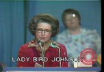 Image of Lady Bird Johnson Houston Texas USA, 1977, second 3 stock footage video 65675029732