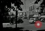 Image of busy street scene North Platte Nebraska USA, 1945, second 4 stock footage video 65675029766