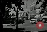 Image of busy street scene North Platte Nebraska USA, 1945, second 7 stock footage video 65675029766