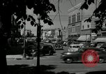 Image of busy street scene North Platte Nebraska USA, 1945, second 10 stock footage video 65675029766