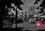 Image of busy street scene North Platte Nebraska USA, 1945, second 11 stock footage video 65675029766