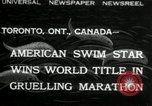 Image of swimming marathon Toronto Ontario Canada, 1932, second 1 stock footage video 65675029788