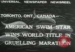 Image of swimming marathon Toronto Ontario Canada, 1932, second 2 stock footage video 65675029788