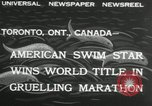 Image of swimming marathon Toronto Ontario Canada, 1932, second 3 stock footage video 65675029788