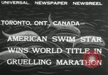 Image of swimming marathon Toronto Ontario Canada, 1932, second 4 stock footage video 65675029788