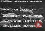 Image of swimming marathon Toronto Ontario Canada, 1932, second 5 stock footage video 65675029788
