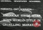 Image of swimming marathon Toronto Ontario Canada, 1932, second 6 stock footage video 65675029788
