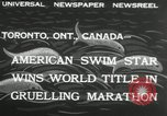 Image of swimming marathon Toronto Ontario Canada, 1932, second 7 stock footage video 65675029788