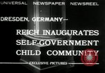 Image of Children's Center Dresden Germany, 1932, second 1 stock footage video 65675029790