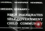 Image of Children's Center Dresden Germany, 1932, second 2 stock footage video 65675029790