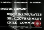 Image of Children's Center Dresden Germany, 1932, second 3 stock footage video 65675029790