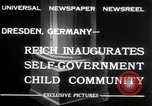 Image of Children's Center Dresden Germany, 1932, second 5 stock footage video 65675029790
