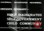 Image of Children's Center Dresden Germany, 1932, second 7 stock footage video 65675029790