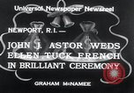 Image of John Jacob Astor VI Newport Rhode Island USA, 1934, second 2 stock footage video 65675029826
