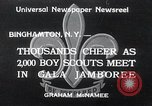 Image of boy scout jamboree Binghamton New York USA, 1934, second 1 stock footage video 65675029832