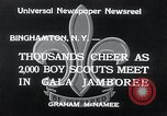Image of boy scout jamboree Binghamton New York USA, 1934, second 3 stock footage video 65675029832