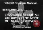 Image of boy scout jamboree Binghamton New York USA, 1934, second 6 stock footage video 65675029832