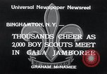 Image of boy scout jamboree Binghamton New York USA, 1934, second 7 stock footage video 65675029832