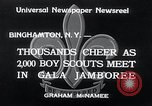 Image of boy scout jamboree Binghamton New York USA, 1934, second 9 stock footage video 65675029832