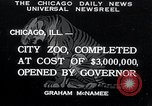 Image of Zoological garden Chicago Illinois USA, 1934, second 1 stock footage video 65675029834