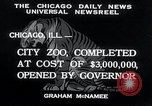 Image of Zoological garden Chicago Illinois USA, 1934, second 2 stock footage video 65675029834