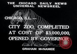Image of Zoological garden Chicago Illinois USA, 1934, second 6 stock footage video 65675029834