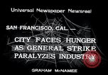 Image of Union strike San Francisco California USA, 1934, second 1 stock footage video 65675029844