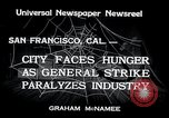 Image of Union strike San Francisco California USA, 1934, second 2 stock footage video 65675029844