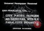 Image of Union strike San Francisco California USA, 1934, second 3 stock footage video 65675029844