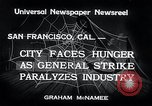 Image of Union strike San Francisco California USA, 1934, second 6 stock footage video 65675029844