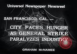 Image of Union strike San Francisco California USA, 1934, second 7 stock footage video 65675029844