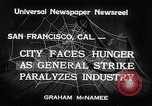 Image of Union strike San Francisco California USA, 1934, second 8 stock footage video 65675029844