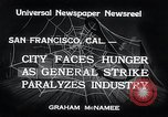 Image of Union strike San Francisco California USA, 1934, second 9 stock footage video 65675029844