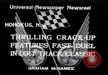 Image of dirt track car race Hohokus New Jersey USA, 1934, second 1 stock footage video 65675029862