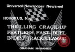 Image of dirt track car race Hohokus New Jersey USA, 1934, second 5 stock footage video 65675029862