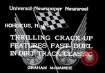 Image of dirt track car race Hohokus New Jersey USA, 1934, second 6 stock footage video 65675029862