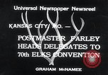 Image of 70th National Elks Convention Kansas City Missouri USA, 1934, second 5 stock footage video 65675029863