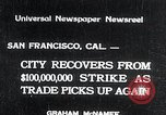 Image of West Coast Strike ends San Francisco California, 1934, second 1 stock footage video 65675029864