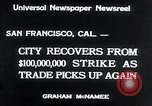 Image of West Coast Strike ends San Francisco California USA, 1934, second 2 stock footage video 65675029864