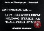 Image of West Coast Strike ends San Francisco California USA, 1934, second 5 stock footage video 65675029864