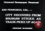 Image of West Coast Strike ends San Francisco California USA, 1934, second 6 stock footage video 65675029864