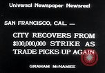 Image of West Coast Strike ends San Francisco California USA, 1934, second 8 stock footage video 65675029864
