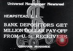 Image of bank depositors Hempstead New York USA, 1934, second 4 stock footage video 65675029865