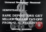 Image of bank depositors Hempstead New York USA, 1934, second 5 stock footage video 65675029865