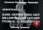 Image of bank depositors Hempstead New York USA, 1934, second 6 stock footage video 65675029865