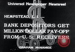 Image of bank depositors Hempstead New York USA, 1934, second 7 stock footage video 65675029865