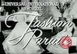 Image of designer outfits Long Island New York USA, 1956, second 4 stock footage video 65675029893