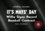 Image of Willie Mays record-setting baseball contract San Francisco California USA, 1966, second 2 stock footage video 65675029934