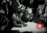 Image of Willie Mays record-setting baseball contract San Francisco California USA, 1966, second 12 stock footage video 65675029934